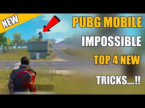 PUBG MOBILE NEW IMPOSSIBLE TOP 4 NEW TRICKS !! NEW TRICKS PUBG MOBILE HINDI
