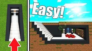 """Minecraft Tutorial: How To Make A Modern Underground Base """"Hidden Base"""""""