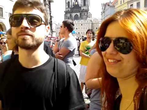 Taking the Free Tour at Prague