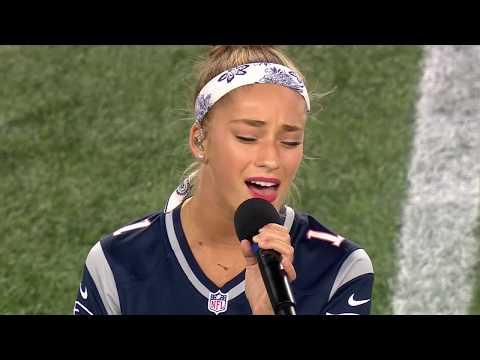 Brynn - 2018 NATIONAL ANTHEM - NE Patriots v Indianapolis Colts