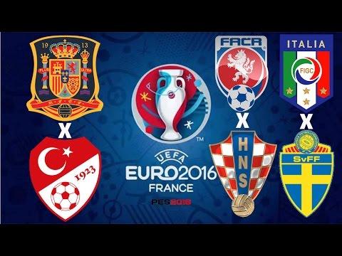 EUROCOPA -2016 - GD: REP. TCHECA X CROÁCIA/ESPANHA X TURQUIA/GE: ITÁLIA X SUÉCIA