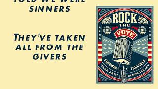 Sold Down The River - Rock The Vote (Lyric Video)