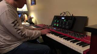 Testing the Roland Boss RC-505 loop station with the Nord Stage 3