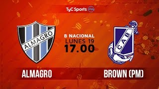 Almagro vs Guillermo Brown full match
