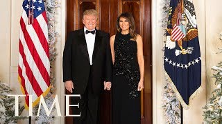 President Trump & The First Lady At The Delivery Of The White House Christmas Tree | TIME
