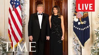 President Trump & The First Lady At The Delivery Of The White House Christmas Tree | LIVE | TIME
