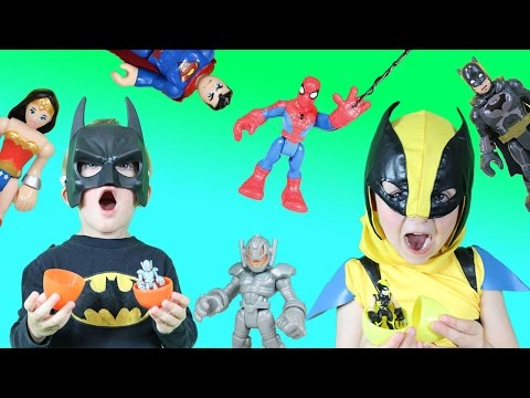 Superhero Surprise Eggs Contest Surprise Kids Go Treasure Hunting For Imaginext Marvel
