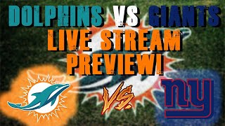 Miami Dolphins Vs New York Giants Live Stream Preview!/ Chase Young Staying at Ohio!!