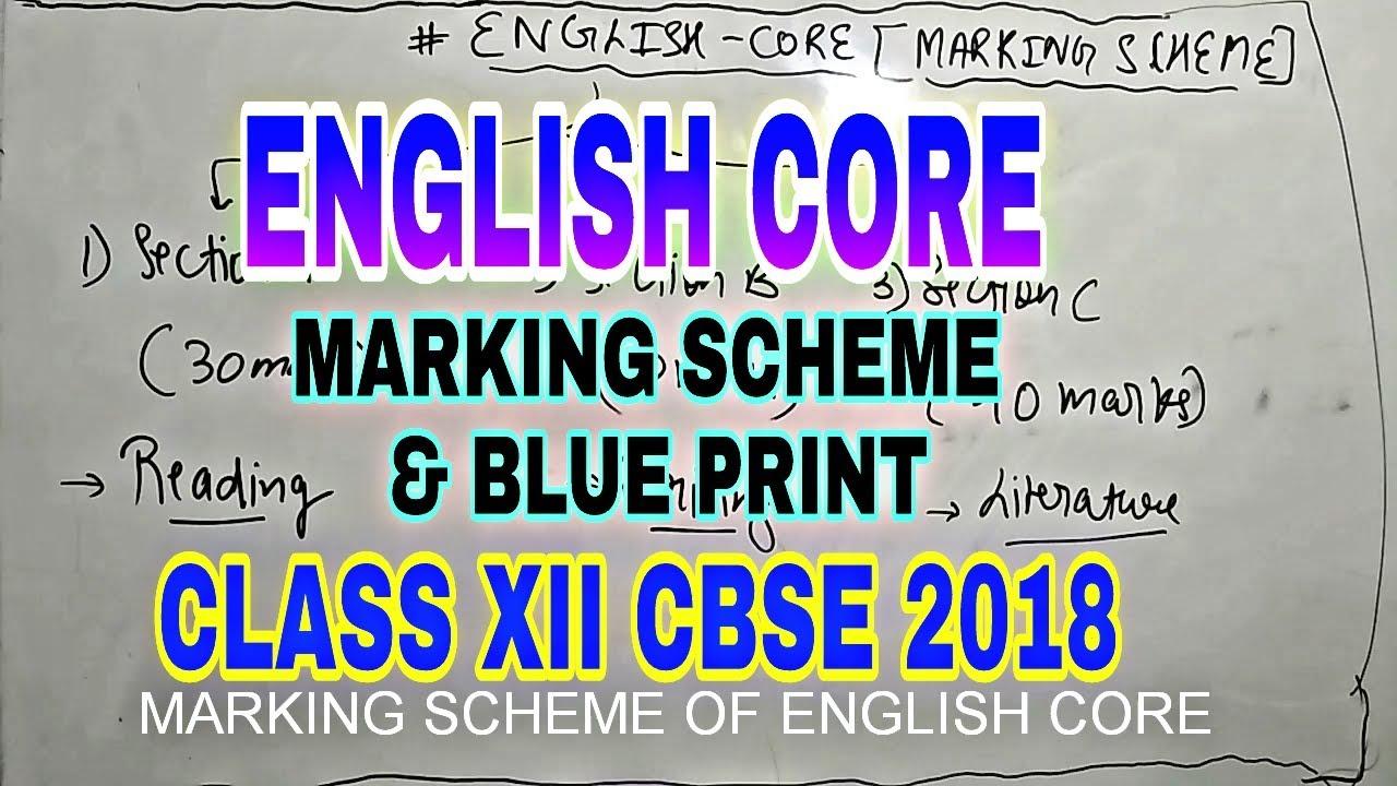 Marking scheme blueprint english core cbse board 2018 class xii marking scheme blueprint english core cbse board 2018 class xii malvernweather Images