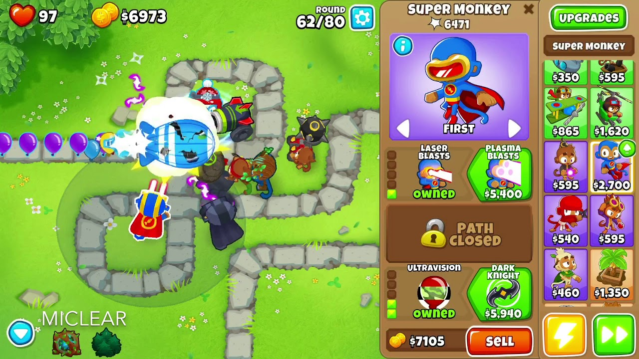 BLOONS TD 6 MONKEY MEADOW MAP on EASY DEFLATION