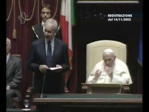 Giovanni Paolo II al Parlamento - Saluto di Pera