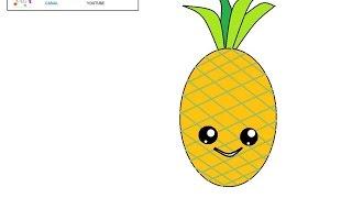 How to draw a kawaii pineapple / song