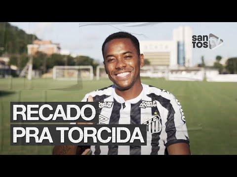 ROBINHO MANDA RECADO PARA A TORCIDA DO SANTOS