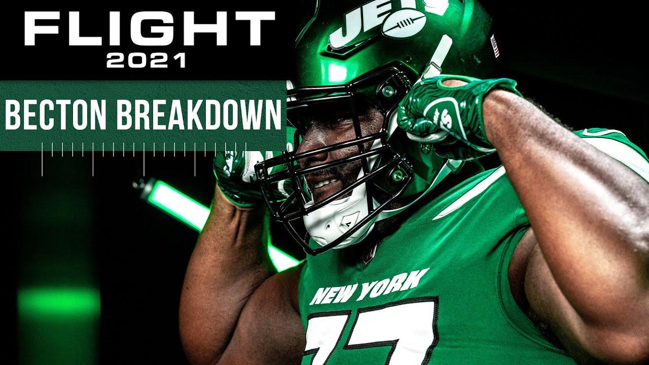 Flight 2021 Short: OC Mike LaFleur Breaks Down OL Mekhi Becton | The New York Jets | NFL