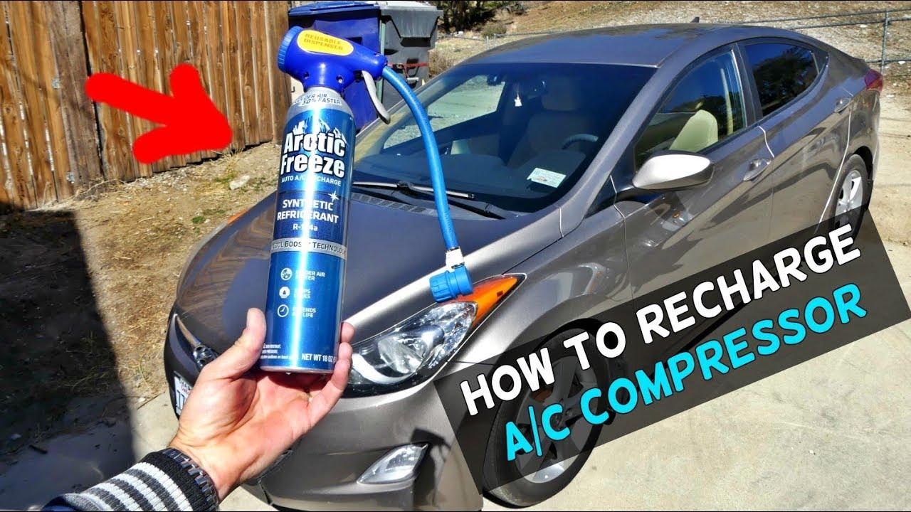 HOW TO RECHARGE THE AC COMPRESSOR ON HYUNDAI ELANTRA