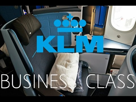 KLM 787 DREAMLINER BUSINESS CLASS REVIEW !