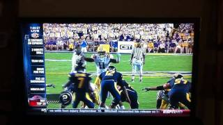 Geno Smith lines up wrong against LSU