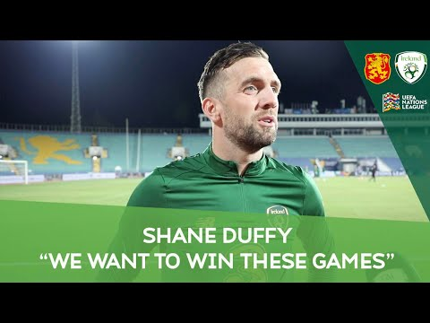 """POST-MATCH INTERVIEW   Shane Duffy   """"We want to win these games""""   Ireland 1-1 Bulgaria"""