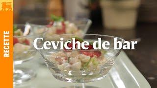 Ceviche de Bar aux Framboises et Citron Vert