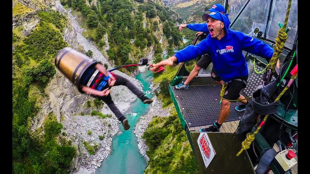 New Zealand South Island River For Bunge Jump