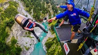 Bungy Jumping Party! Behind The Scenes in New Zealand! thumbnail
