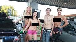 Spritzige Werbeaktion für die VENUS! Erotik Models füllen Berlinern den Tank