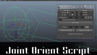Joint Orient Script - Autodesk Maya
