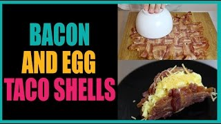 Bacon Taco Shells With Eggs And Cheese