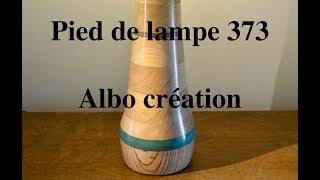 Création pied de lampe en chêne. 373.