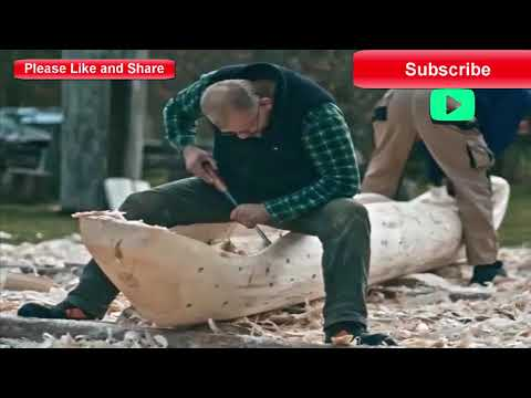 diy making a boat from a tree trunk