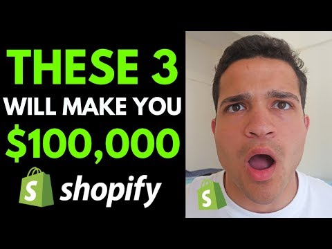 These 3 Winning Products Will Make You $100,000+ In The Next 6 Months (Shopify Dropshipping 2019) thumbnail