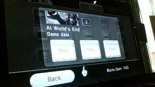 All My Save Data on my Nintendo Wii 04 09 2015