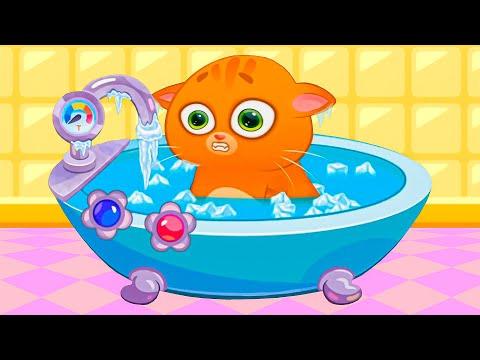 Суровый КОТИК БУБУ #50. Салон красоты. Спа ванная. Мультик ИГРА про котят на Игрули TV