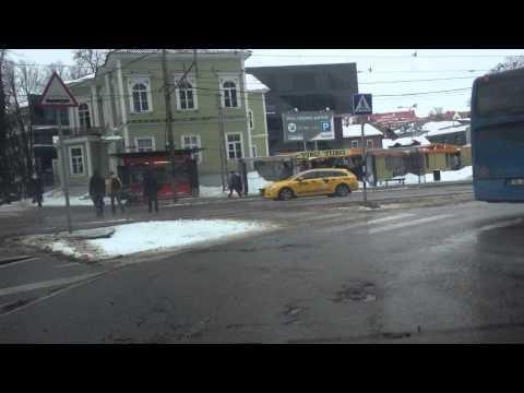 Tallinna teed 2013.03.05 Pirita tee. Дороги Таллинна 2013. Tallinn Car Trip.