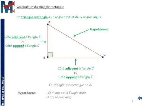 3 me le triangle rectangle c t s oppos et adjacent youtube - Les cotes d un plan ...