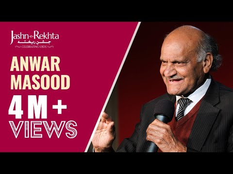 Humorous poetry by Anwar Masood at Jashn-e-Rekhta 2016 Mushaira