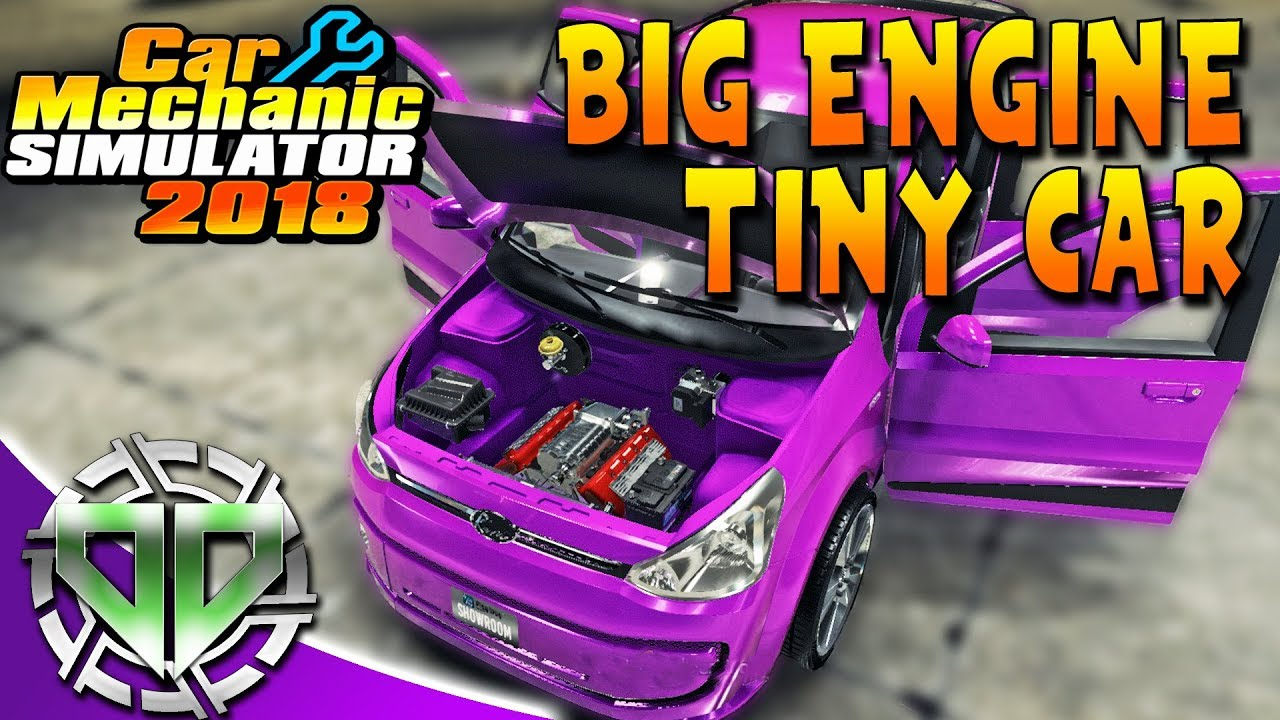 Car Mechanic Simulator 2018 : V8 Supercharger Rino Piccolo! New Engine  Sounds! Big Engine Tiny Car!