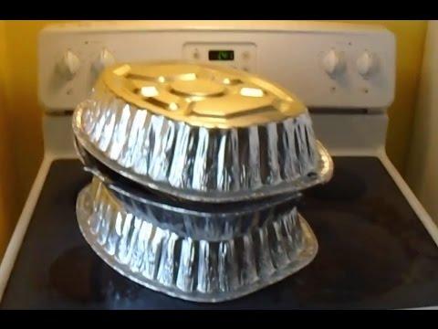 DIY Stove top oven ( Disposable Aluminum pans) tutorial