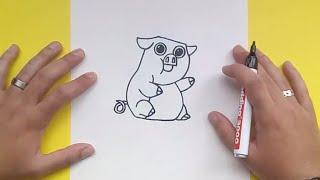 Como dibujar un cerdo paso a paso 5 | How to draw a piglet 5