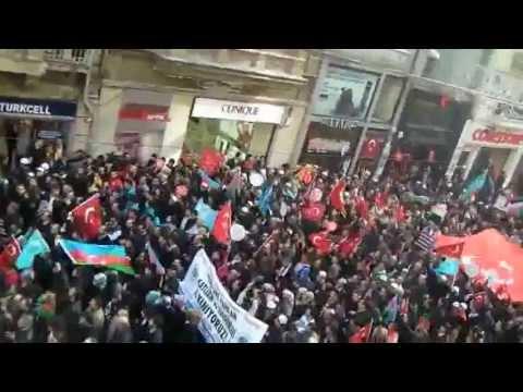 Азербайджанцы,Турки в Стамбуле.месть ждет армян!!!