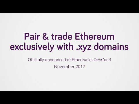 Pair & trade Ethereum exclusively with .xyz domains (Full)