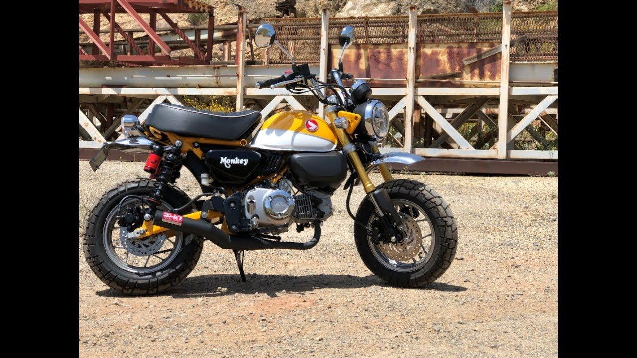 2019 Honda Monkey Stock Exhaust Vs Yoshimura Straight Cyclone Full System