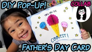 DIY Easy Father's Day Pop-Up Card | Collab with Doodles by Sarah | Pop-up Card DIY & Tutorial