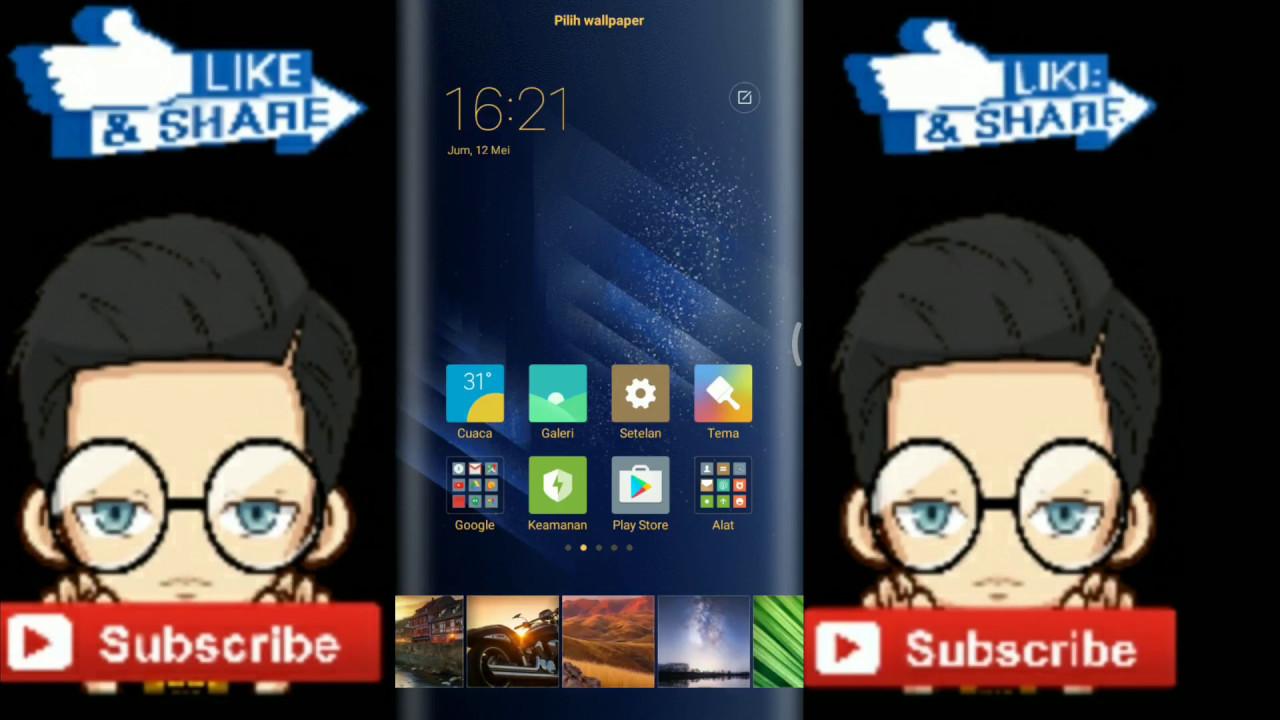 Cara Membuat Wallpaper Edge Melengkung Samsung S8 Di Android Youtube