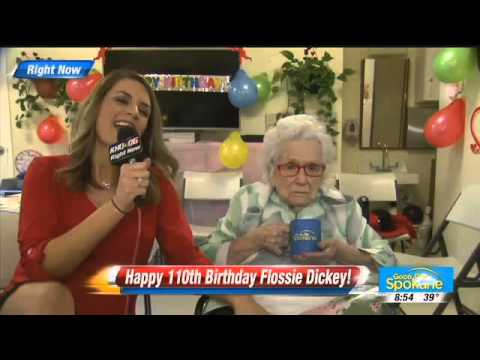 Interview with 110 Year Old Woman, Flossie Dickey