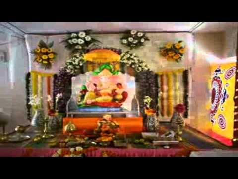ganpati festival decoration ideas home youtube