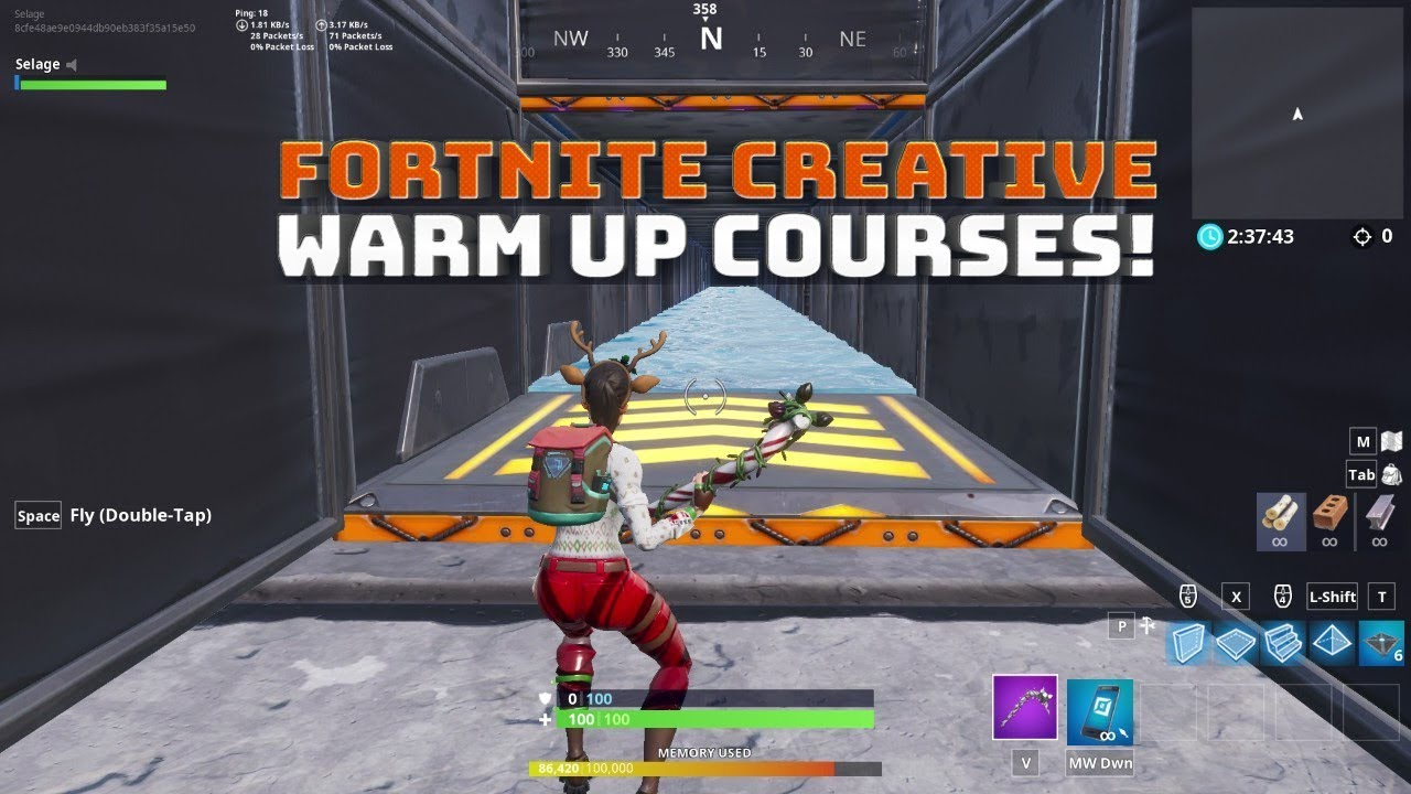 Creative Mode Aim And Edit Courses With Code Fortnite Battle Royale