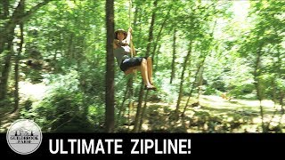 Installing an EPIC ZIPLINE through a 200 year old homestead site!
