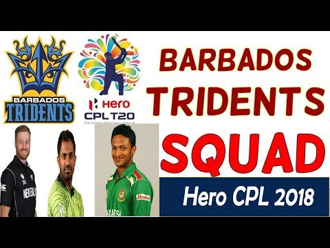 CPL 2018   Complete Squad of Barbados Tridents And their Prices   Caribbean premier league 2018