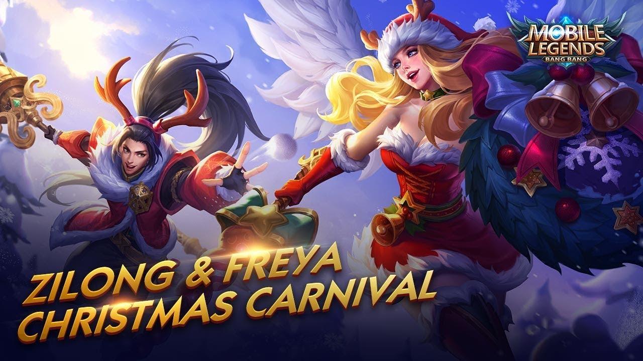 Freya Zilong New Skin Christmas Carnival Mobile Legends Bang Bang Youtube